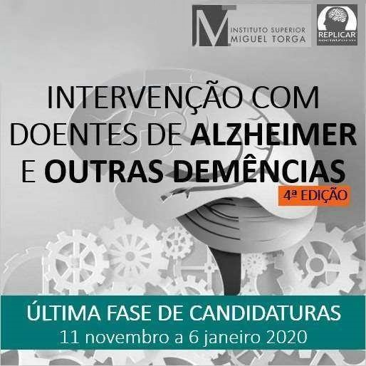 Curso de pós-graduação em Intervenção com Doentes de Alzheimer e outras Demências
