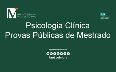 Prova Pública de Mestrado em Psicologia Clínica